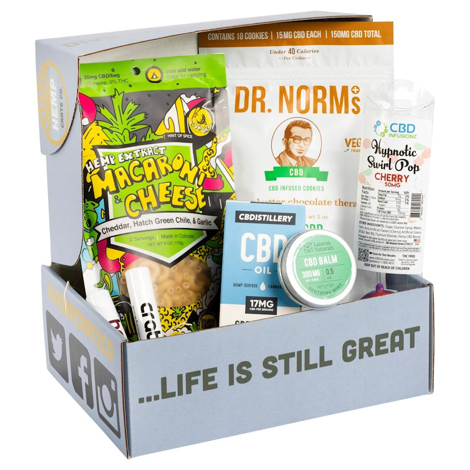 """<h2>Hemp Crate Co.<br></h2><br><strong>CBD Subscription</strong><br>Give your papa the gift of ~chill~ with one of Hemp Crate Co.'s many CBD subscription boxes. This explorer box is perfect for newbies looking to delve into the CBD realm without totally tripping out. <br><br><em>Shop</em> <strong><em><a href=""""https://www.hempcrate.co/subscribe/"""" rel=""""nofollow noopener"""" target=""""_blank"""" data-ylk=""""slk:Hemp Crate Co."""" class=""""link rapid-noclick-resp"""">Hemp Crate Co.</a></em></strong><br><br><br><strong>Hemp Crate Co.</strong> Hempa The Explorer, $, available at <a href=""""https://go.skimresources.com/?id=30283X879131&url=https%3A%2F%2Fwww.hempcrate.co%2Fsubscribe%2F1975182728_hempa-the-explorer-starter"""" rel=""""nofollow noopener"""" target=""""_blank"""" data-ylk=""""slk:Hemp Crate Co."""" class=""""link rapid-noclick-resp"""">Hemp Crate Co.</a>"""