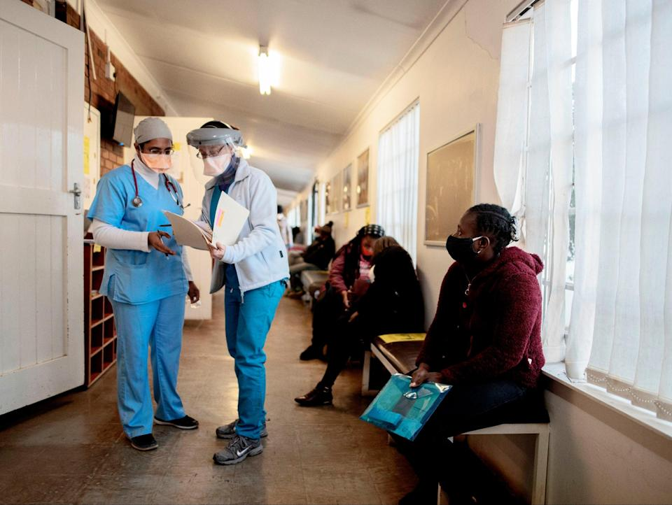 Covid ward in South Africa (AFP via Getty Images)
