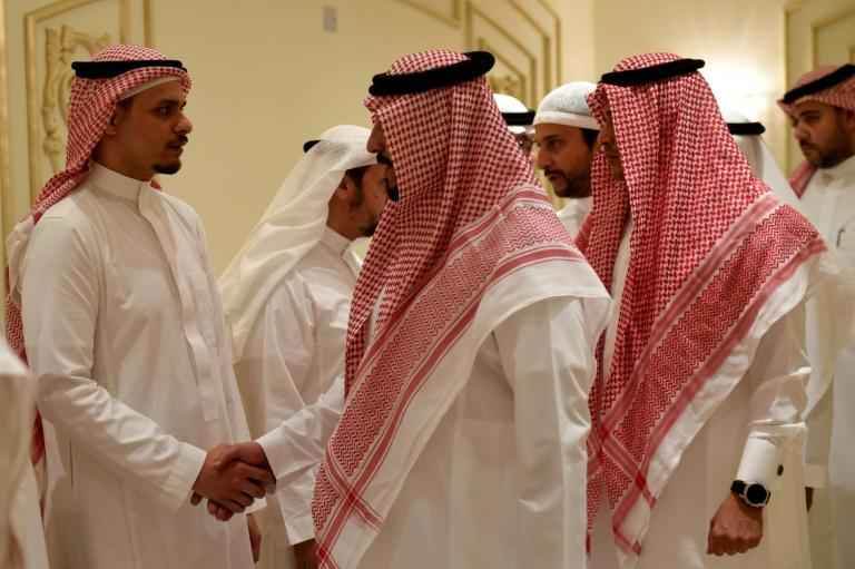 Salah Khashoggi and his relatives receive mourners in Jeddah