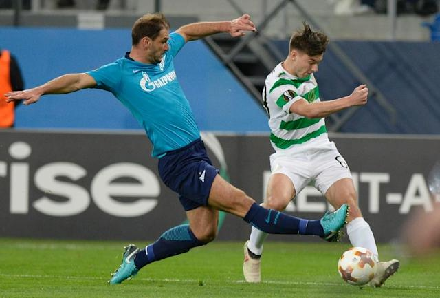 Branislav Ivanovic scored and set up another goal as Zenit knocked out Celtic (AFP Photo/Yuri KADOBNOV)