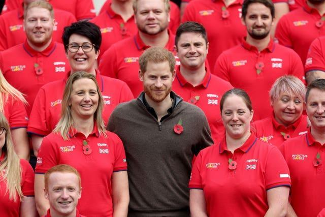 Harry at the launch of Team UK for The Hague Invictus Games. Yui Mok/PA Wire