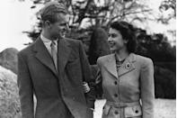 <p>Enjoying a stroll on their honeymoon at Broadlands in Hampshire.</p>