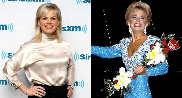 Gretchen Carlson today, left, and as Miss America in 1989. (Photo: Getty Images)