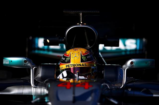 <span>Lewis Hamilton is hoping to reclaim the title he won previously in 2016, 2015 and 2008</span> <span>Credit: Dan Istitene/Getty  </span>