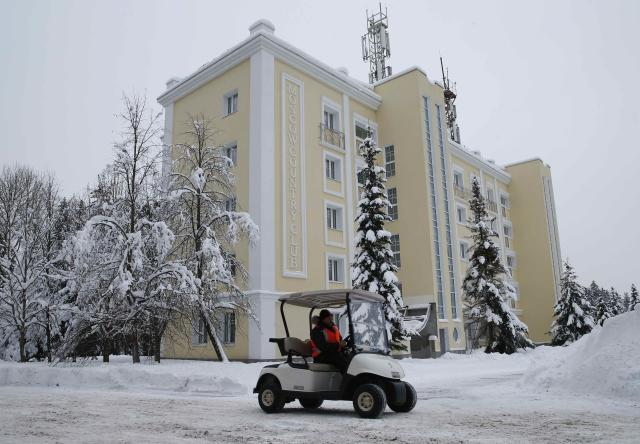 A general view shows the Moscow Country Club hotel and golf resort which was chosen to be the base for the Belgian national soccer team during the 2018 FIFA World Cup in the village of Nakhabino, outside Moscow, Russia February 10, 2018. REUTERS/Tatyana Makeyeva