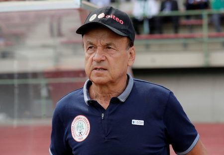 Soccer Football - International Friendly - Czech Republic vs Nigeria - Rudolf-Tonn-Stadion, Schwechat, Austria - June 6, 2018 Nigeria coach Gernot Rohr REUTERS/Heinz-Peter Bader