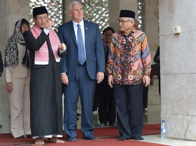 US Vice President Mike Pence's visit to Indonesia represents the most high-profile outreach to Muslims by the Donald Trump administration since the brash billionaire came to office (AFP Photo/Adek BERRY)