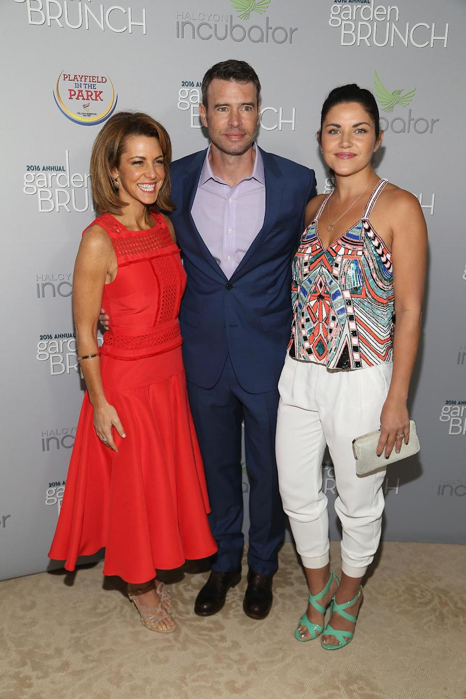 <p>Stephanie Ruhle, Scott Foley, and Marika Dominczyk attend the Garden Brunch prior to the 102nd White House Correspondents' Dinner at the Beall-Washington House, April 30. <i>(Photo: Paul Morigi/WireImage)</i></p>