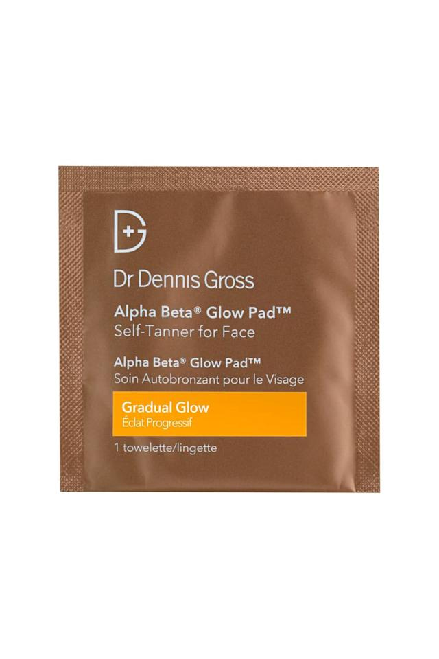 """<p><strong>Dr. Dennis Gross</strong></p><p>nordstrom.com</p><p><strong>$38.00</strong></p><p><a href=""""https://go.redirectingat.com?id=74968X1596630&url=https%3A%2F%2Fshop.nordstrom.com%2Fs%2Fdr-dennis-gross-skincare-alpha-beta-gradual-glow-pad-self-tanner-for-face%2F4628782&sref=https%3A%2F%2Fwww.marieclaire.com%2Fbeauty%2Fmakeup%2Fg1794%2Fbest-self-tanners%2F"""" target=""""_blank"""">SHOP IT</a></p><p>If the airport might as well be your second home, pack a few of these trusty glow pads in your bag if bulking up your suitcase with another beauty product just isn't feasible. These mini dosed towelettes might look small, but they pack a mighty punch full of exfoliating alpha beta ingredients that have major anti-aging benefits. Besides that, the obvious does occur: smooth this all over desired areas, wash your hands, then wait for a gradual glow to appear in two to three hours. </p><p><strong>Hot Tip: </strong>Wash your hands immediately after using these to avoid stained hands that look, well, weird. </p>"""