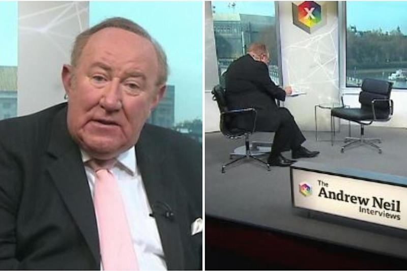 Andrew Neil directly challenged the PM to an interview: BBC