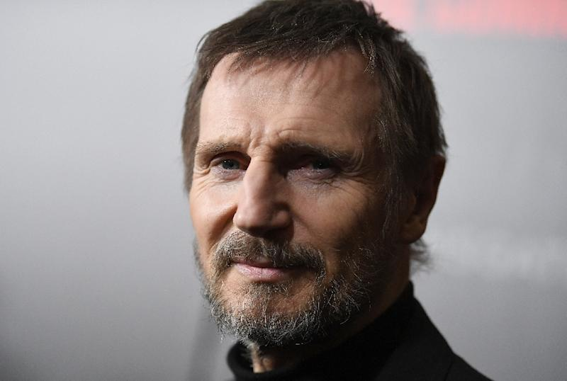 "Actor Liam Neeson insists he is ""not racist"" after admitting he once set out to attack a random black man after a female friend told him she had been raped by a black man decades before. (AFP Photo/ANGELA WEISS)"