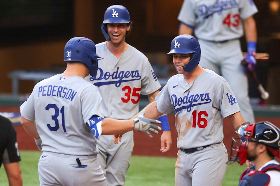 Los Angeles Dodgers overwhelm the Atlanta Braves in dominant NLCS Game 3 win. (Photo by Ronald Martinez/Getty Images)