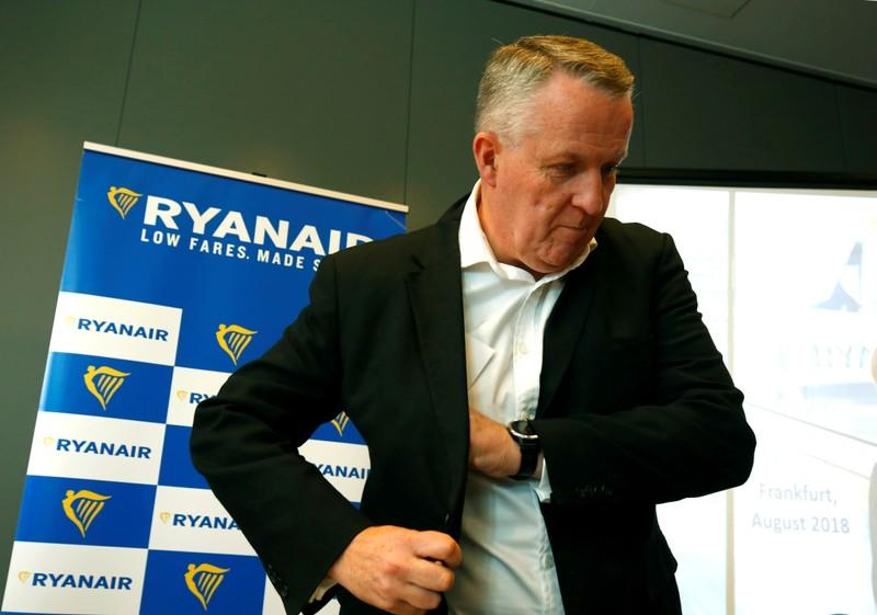 FILE PHOTO: Chief Operating Officer Bellew of Ryanair attends a news conference in Frankfurt