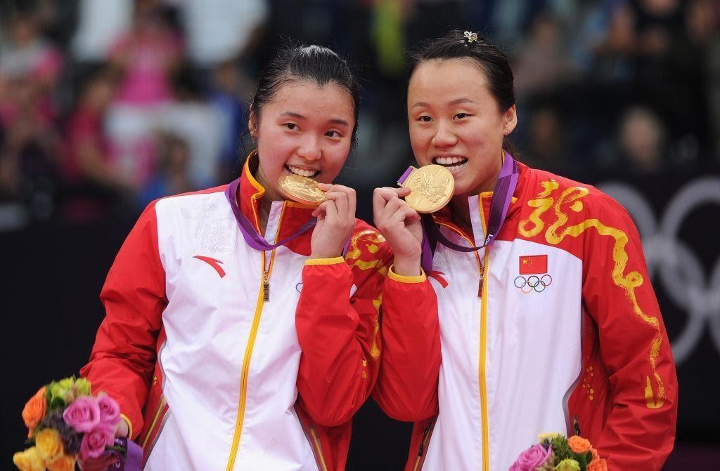 The competition was eventually won by Chinese pair Zhao Yunlei (R) and Tian Qing. (Getty)