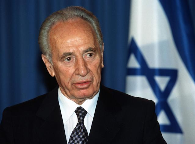 <p>Shimon Peres served in various parts of the Israel government, including as Prime Minister and President. An internationally-renowned statesman, he died at age 93 on September 28. — (Pictured) Shimon Peres, Israeli foreign Minister speaks at a press conference in May 2001. (Unkel/ullstein bild via Getty Images) </p>