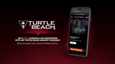 Turtle Beach and Samsung partner to give gamers a free smartphone with any headset purchase on turtlebeach.com