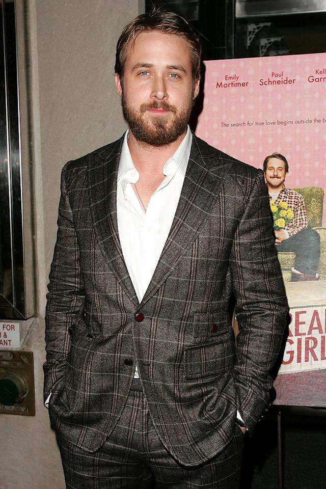 "<a href=""http://movies.yahoo.com/movie/contributor/1804035474"">Ryan Gosling</a> at the New York premiere of <a href=""http://movies.yahoo.com/movie/1809775083/info"">Lars and the Real Girl</a> - 10/03/2007"
