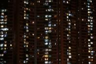 FILE PHOTO: General view of an apartment building at the Tuen Mun neighbourhood in Hong Kong