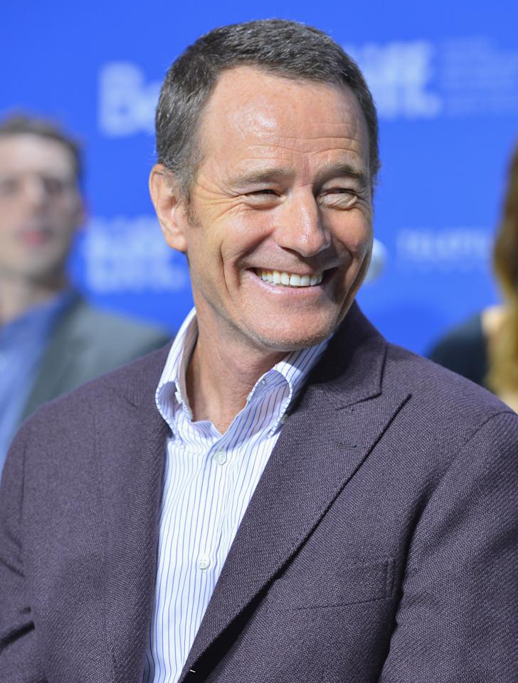 """TORONTO, ON - SEPTEMBER 08:  Actor Bryan Cranston speaks onstage at the """"Argo"""" press conference during the 2012 Toronto International Film Festival at TIFF Bell Lightbox on September 8, 2012 in Toronto, Canada.  (Photo by Alberto E. Rodriguez/Getty Images)"""