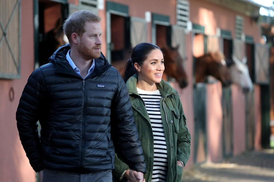 Harry and Meghan have welcomed a baby boy [Photo: PA]