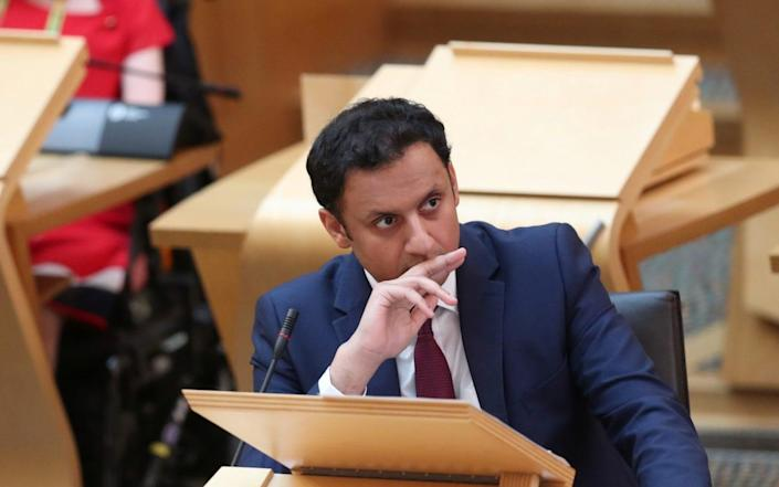 260917525 / 780c158c-95b0-3a50-9f1b-57163621f3e4 Image headline: Nicola Sturgeon Takes First Minister's Questions Original description: EDINBURGH, UNITED KINGDOM - JUNE 10: Scottish Labour Leader Anas Sarwar attends the First Minister's Questions at the Scottish Parliament on June 10, 2021 in Edinburgh, Scotland. (Photo by Russell Cheyne-WPA Pool/Getty Images) Image title: 1233369772 Credit: WPA Pool Source: Getty Images Europe Filename: TELEMMGLPICT000260917525.jpeg - Russell Cheyne/WPA Pool/Getty Images