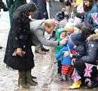 <p>Snow fell whilst the couple were visiting Bristol Old Vic.</p>