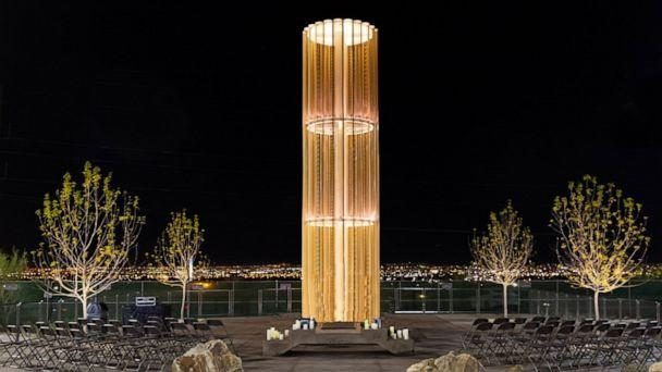 PHOTO: The Grand Candela memorial is seen here, which honors the lives of those lost at the El Paso Walmart shooting. (Walmart)