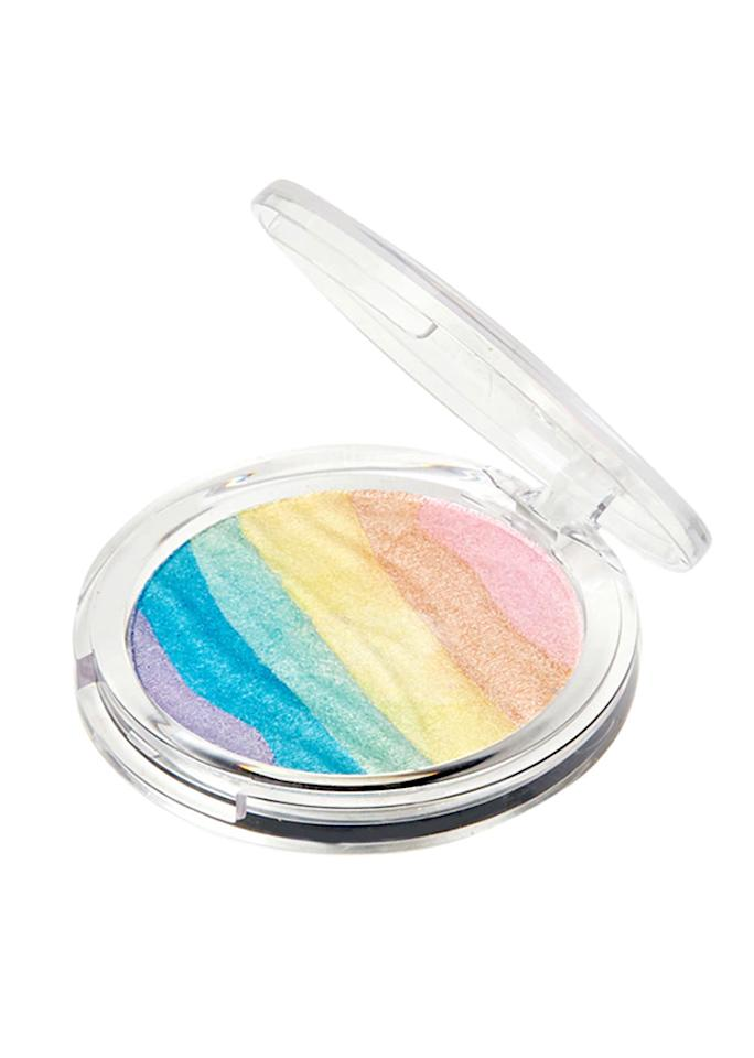 """Forever 21 Rainbow Highlighter, $5.90; at <a rel=""""nofollow"""" href=""""http://www.forever21.com/Product/Product.aspx?BR=f21&Category=promo-best-sellers-beauty&ProductID=1000321581&VariantID="""" rel="""""""">Forever 21</a>"""