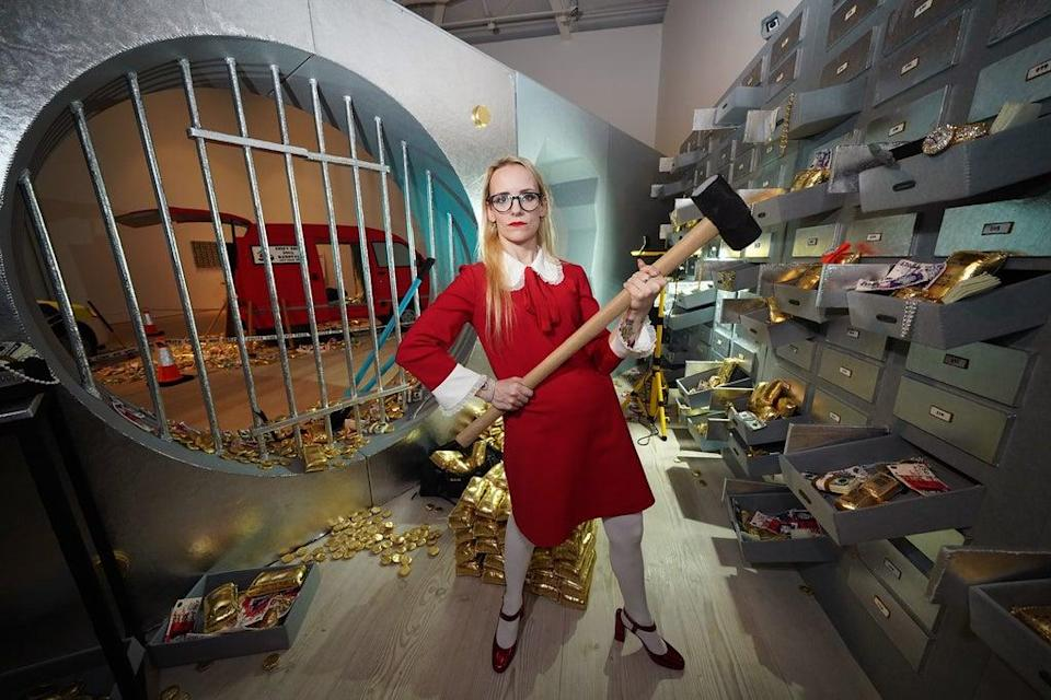 The Billion Dollar Robbery by Lucy Sparrow – Saatchi Gallery (Yui Mok/PA) (PA Wire)