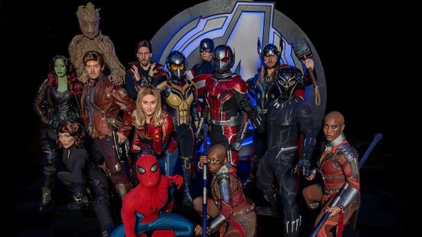 PHOTO: The Avengers assemble for a group photo ahead of the summer opening of Avengers Campus at Disney California Adventure park. (Joshua Sudock/Disneyland Resort)