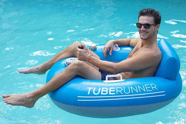 This PoolCandy Tube Runner ($130) is a motorized chair that Jennifer says just might win summer.