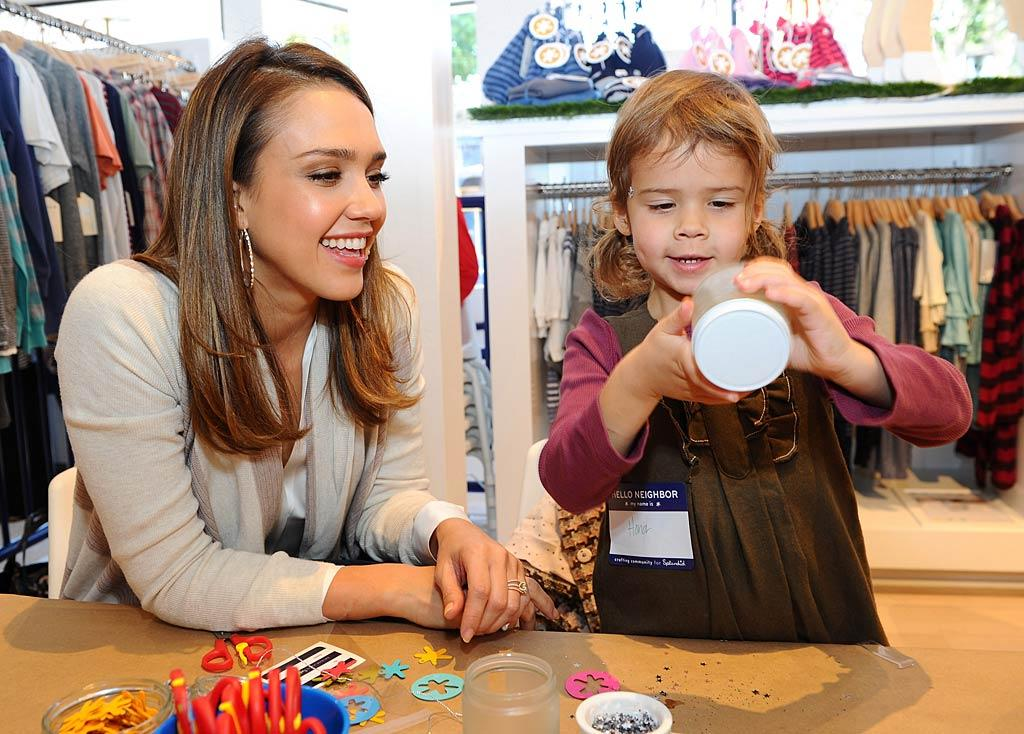 Also in Santa Monica, Jessica Alba brought 3-year-old daughter Honor to the opening of a new Splendid store. Hubby Cash must have stayed home to watch new baby Haven, who arrived over the summer. (12/4/2011)