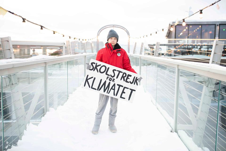 <p>Three years since her first protest, the Swedish schoolgirl is now known worldwide</p> (PA)