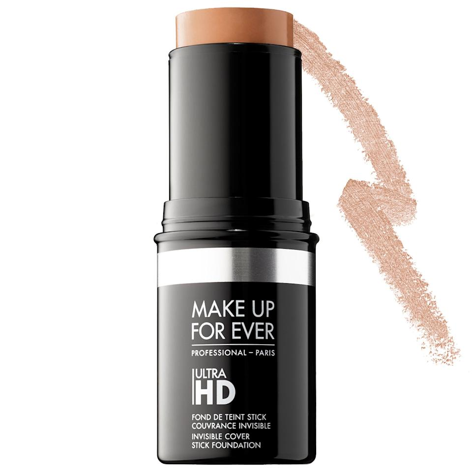 """<p><strong>MAKE UP FOR EVER</strong></p><p>sephora.com</p><p><strong>$43.00</strong></p><p><a href=""""https://go.redirectingat.com?id=74968X1596630&url=https%3A%2F%2Fwww.sephora.com%2Fproduct%2Fultra-hd-invisible-cover-stick-foundation-P398775&sref=http%3A%2F%2Fwww.elle.com%2Fbeauty%2Fmakeup-skin-care%2Fg28858%2Fbest-full-coverage-foundation%2F"""" target=""""_blank"""">Shop Now</a></p><p><strong>The Pro:</strong> <a href=""""https://www.instagram.com/kilprity/?hl=en"""" target=""""_blank"""">Keita Moore </a></p><p><strong>The Clients:</strong> Nicki Minaj, Janet Mock, Issa Rae, Mariah Carey</p><p>""""This foundation is so pigmented. I love that it keeps the skin texture and is very easy to set. The stick makes it easy for this creamy formula to glide on. To start, I apply the foundation in the T-zone area then buff what's left outward using a dampened beauty blender or foundation brush.""""</p>"""