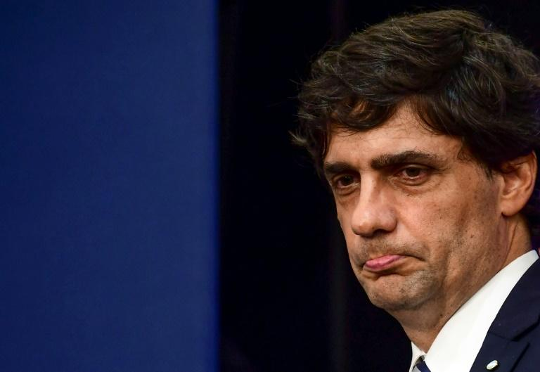 """Argentina's Finance Minister Hernan Lacunza said the request to the IMF for debt repayment extensions aims to allow the next government to """"deploy its policies without financial restrictions"""" (AFP Photo/RONALDO SCHEMIDT)"""