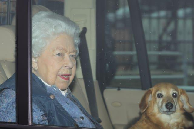The Queen leaves for Windsor
