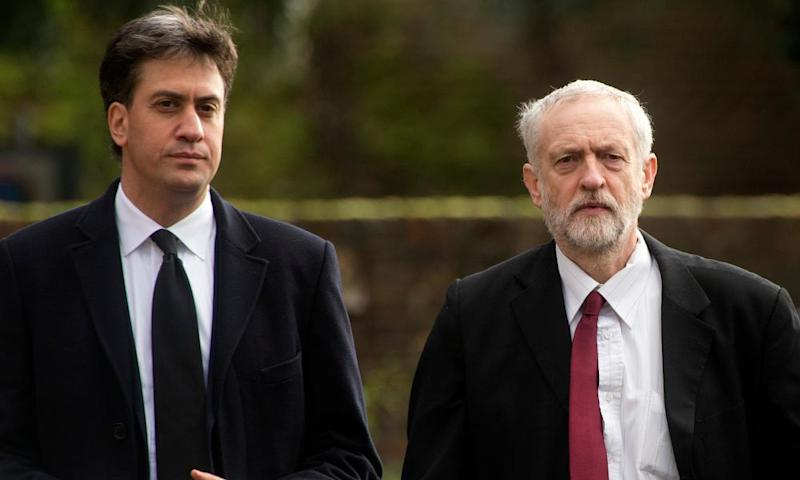 Ed Miliband and Jeremy Corbyn