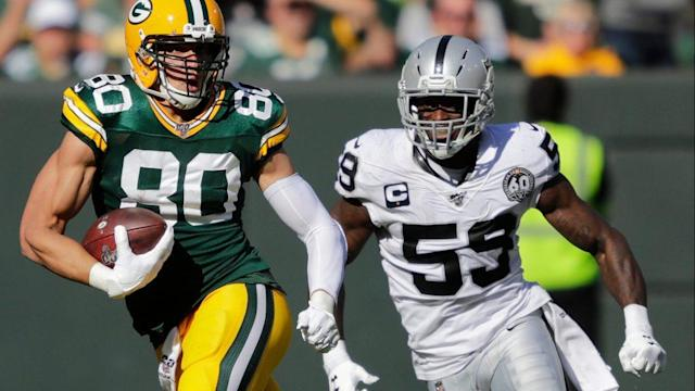 Jimmy Graham played his best game in Green Bay on Sunday vs. Raiders