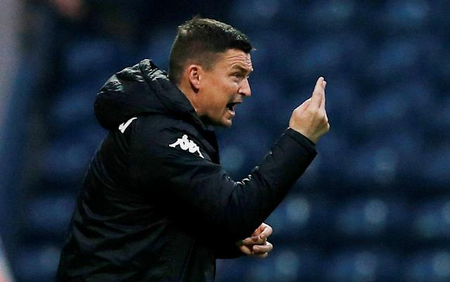 "Soccer Football - Championship - Preston North End vs Leeds United - Deepdale, Preston, Britain - April 10, 2018 Leeds United manager Paul Heckingbottom gestures Action Images/Craig Brough EDITORIAL USE ONLY. No use with unauthorized audio, video, data, fixture lists, club/league logos or ""live"" services. Online in-match use limited to 75 images, no video emulation. No use in betting, games or single club/league/player publications. Please contact your account representative for further details."