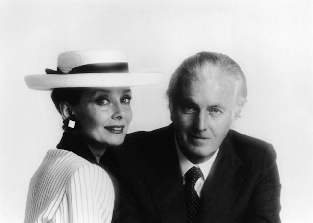 <p>Hepburn and Givenchy in the mid-1980s. (Photo: Hulton Archive/Getty Images) </p>