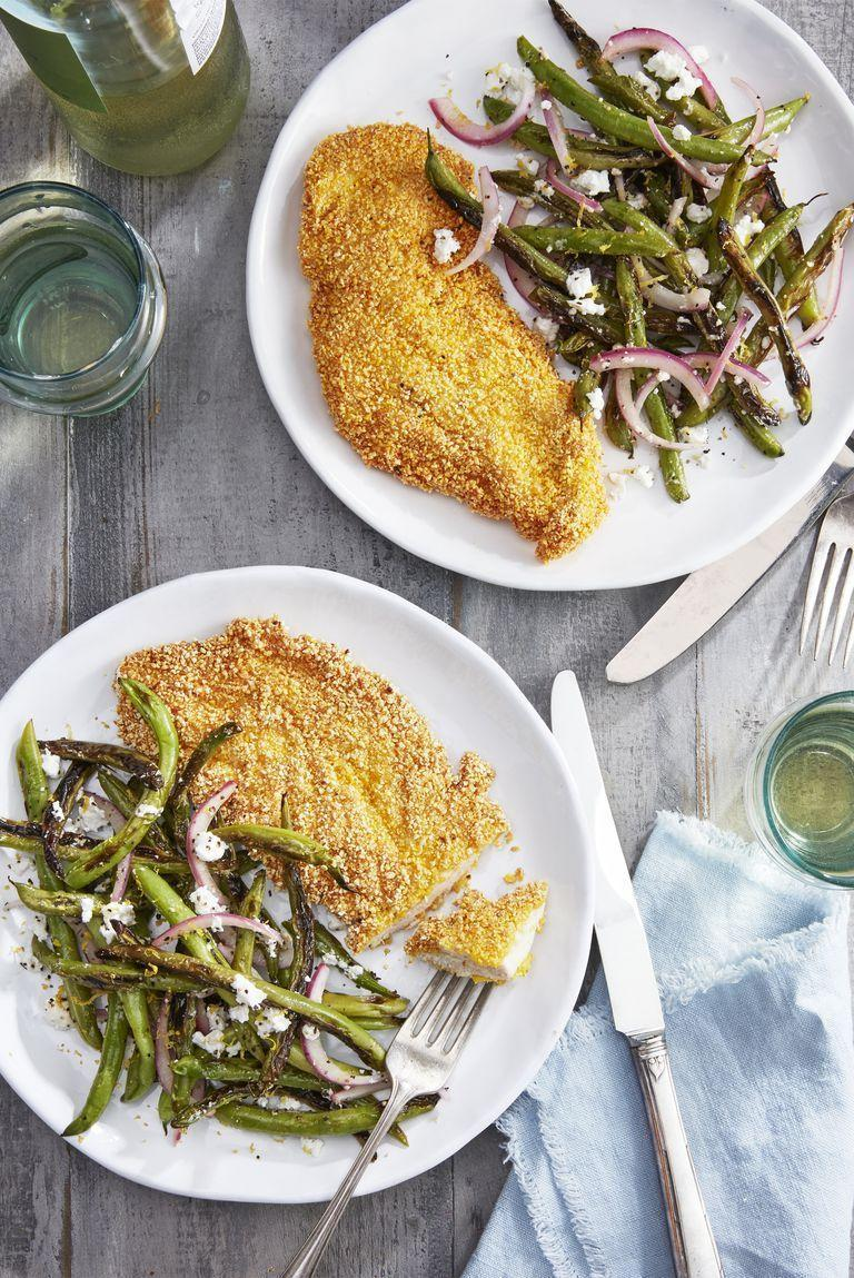 """<p>What's better than an <a href=""""https://www.countryliving.com/food-drinks/g680/chicken-recipes-0109/"""" rel=""""nofollow noopener"""" target=""""_blank"""" data-ylk=""""slk:easy chicken dinner"""" class=""""link rapid-noclick-resp"""">easy chicken dinner</a>? We love this one, which pairs two Southern favorites (grits and fried chicken) for a taste that's simply out of this world.</p><p><strong><a href=""""https://www.countryliving.com/food-drinks/a27612603/spiced-grit-fried-chicken-cutlets-recipe/"""" rel=""""nofollow noopener"""" target=""""_blank"""" data-ylk=""""slk:Get the recipe"""" class=""""link rapid-noclick-resp"""">Get the recipe</a>.</strong> </p>"""