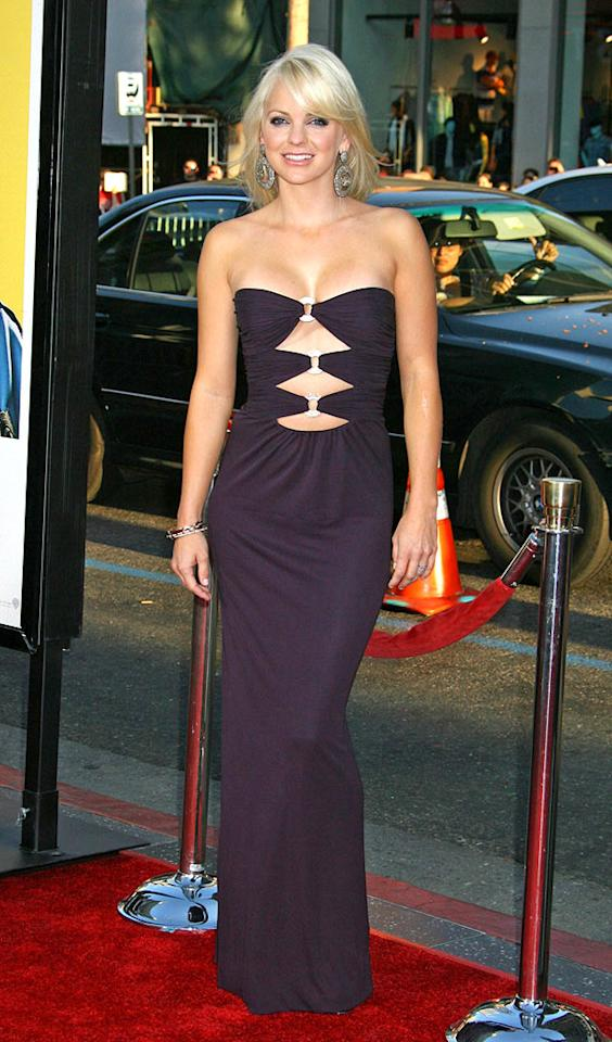 "Anna Faris left little to the imagination when she dared to wear this dramatic Azzaro dress to the opening of her new film, ""Observe and Report."" Russ Einhorn/<a href=""http://www.splashnewsonline.com"" target=""new"">Splash News</a> - April 6, 2009"
