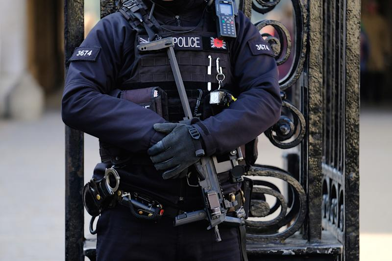 An armed counter-terror police officer in London (Picture: PA)