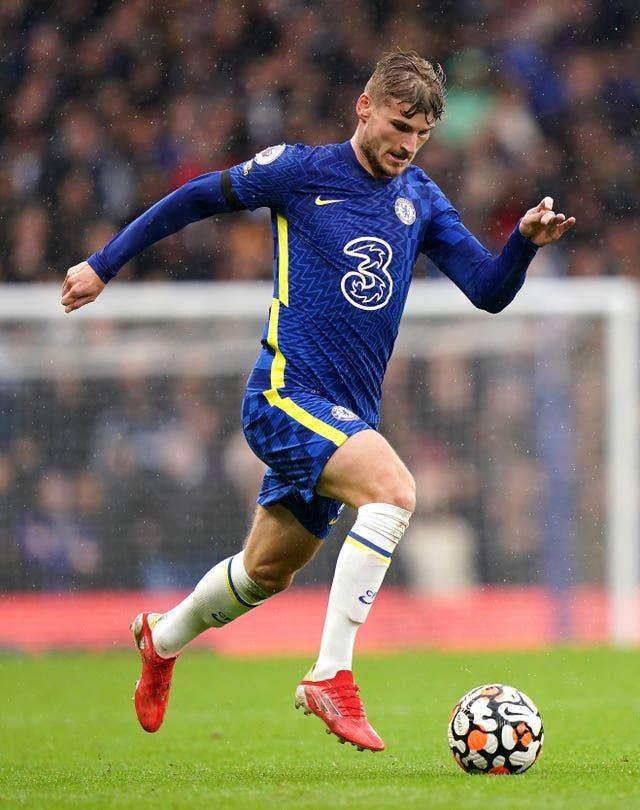 Chelsea's Timo Werner in action