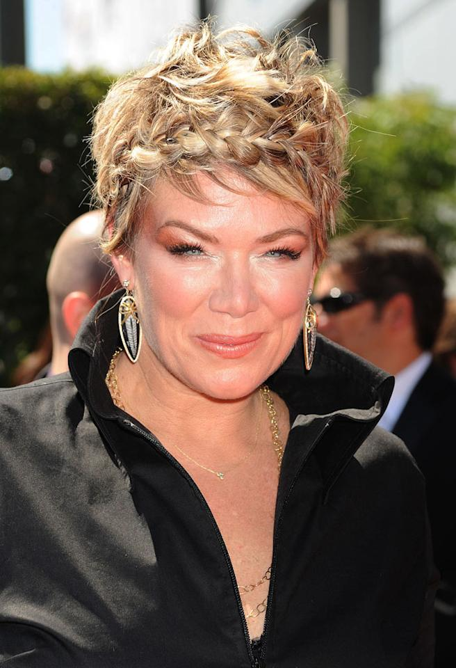 "Following in Alan's footsteps was ""So You Think You Can Dance"" choreographer Mia Michaels, whose traumatized tresses and anguished eyebrows surprisingly overshadowed her excessive eyeshadow. Jeffrey Mayer/<a href=""http://www.wireimage.com"" target=""new"">WireImage.com</a> - August 21, 2010"