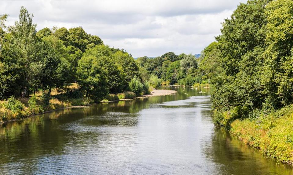 The Taff river in Bute Park, Cardiff.