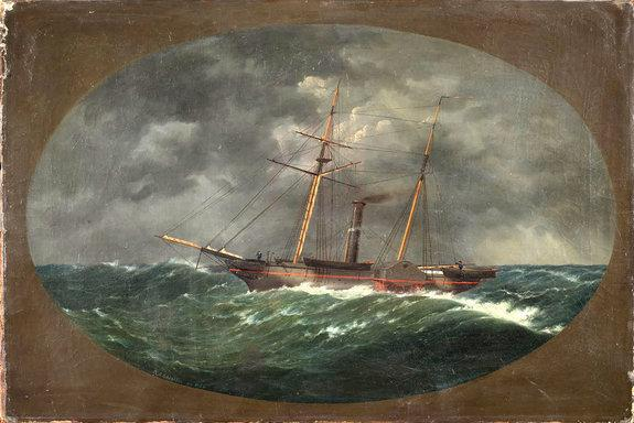 The Robert J. Walker, a steamer used to map the United States coastline, sank at sea on June 21, 1860 after a commercial vessel slammed into it.