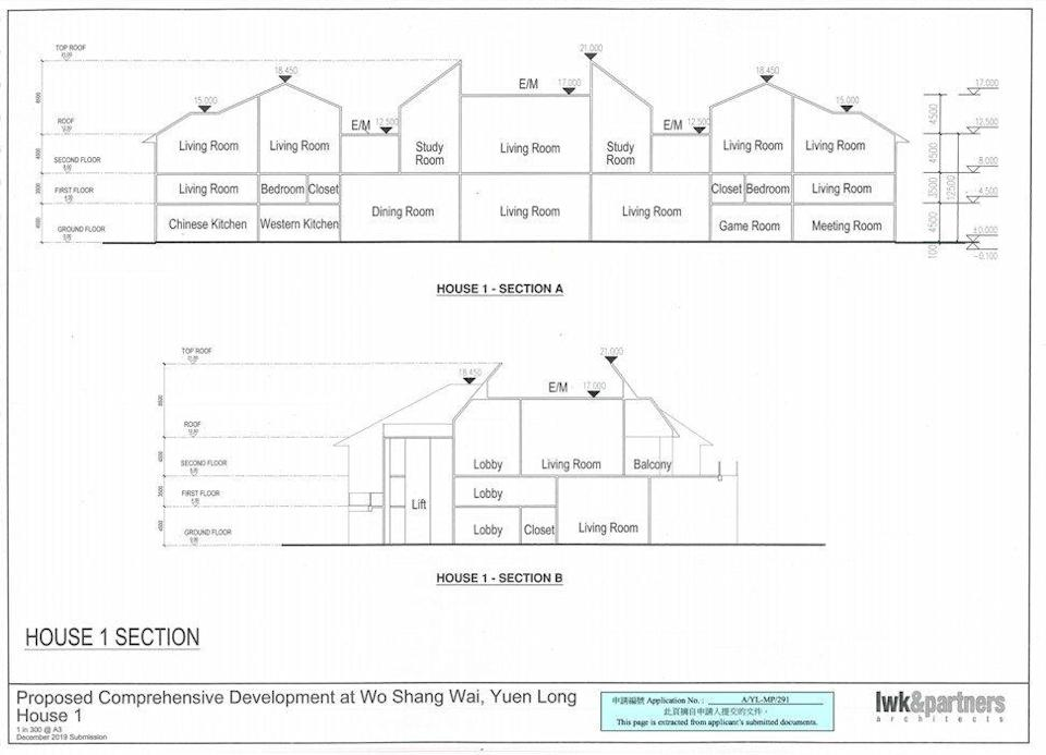 The plan for House 1. Photo: Handout