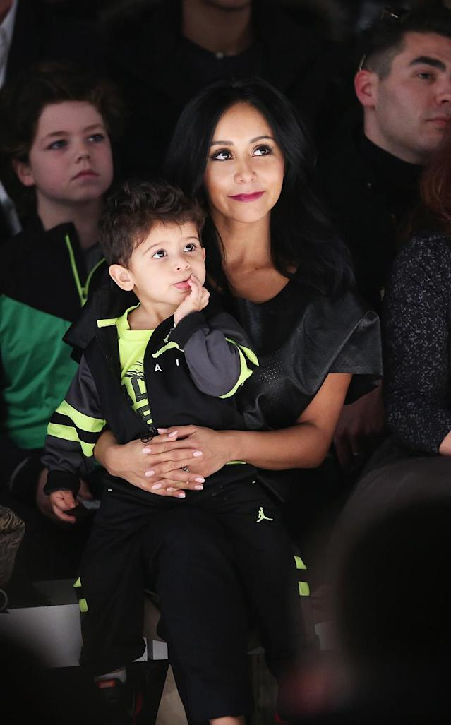 <p>Reality TV personality Snooki became a mom at 24. (Photo by Cindy Ord/Getty Images for Mercedes-Benz Fashion Week) </p>