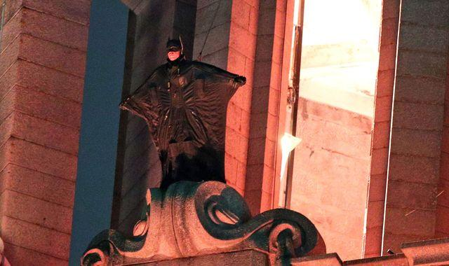Stunt double scales Liverpool landmark as filming for new Batman movie continues